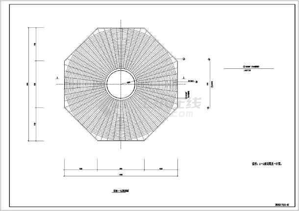 某项目风力发电机组基础部分结构施工图图片