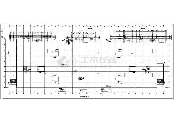 单层混凝土框架结构地下车库建筑施工图纸