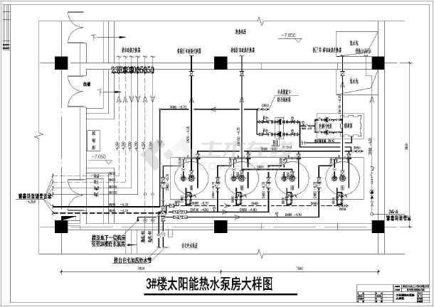 某小区高层框架结构太阳能给水工程设计图