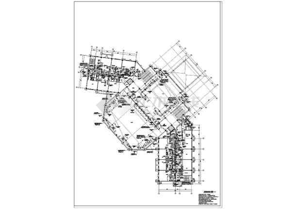 图纸 暖通设计图 中央空调 办公楼空调设计图 某二层酒店空调及机房