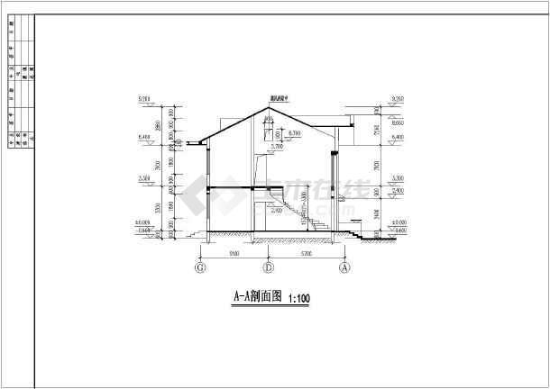 某地两层框架结构别墅建筑设计施工图纸图片