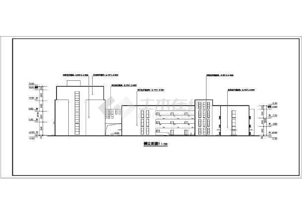 三层框架结构12班幼儿园建筑设计方案图纸,该图纸包括:建筑各层平面图