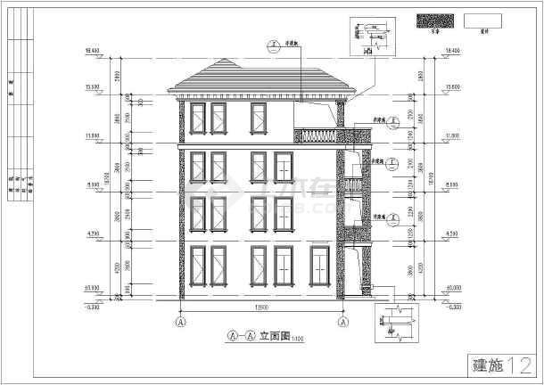 某农村四层框架结构住宅楼建筑设计方案图纸