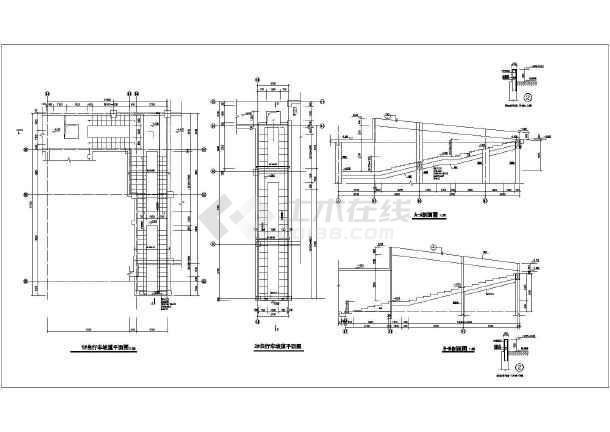 某简单自行车坡道结构设计施工图纸