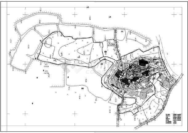 图纸 园林设计图 景观规划设计 风景区及度假村景观规划设计图 某山地