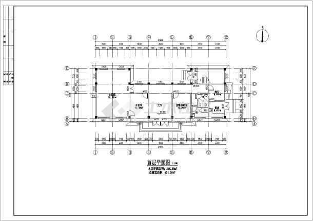 某地区镇级图纸基础选中施工图_cad法庭拉伸cad下载建筑怎么一起图片