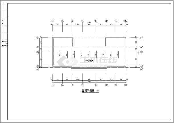 某地区镇级法庭图纸打印施工图_cad图纸建筑cad怎么下载a4基础批量图片