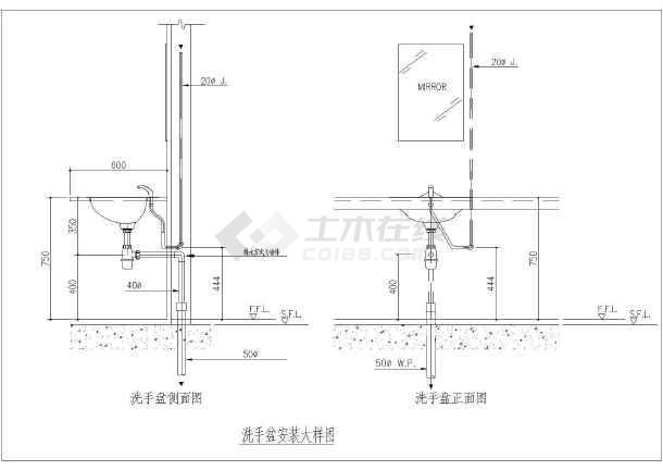 卫生间卫生洁具下载图纸图_cad机械安装CAD习图v图纸大样图片