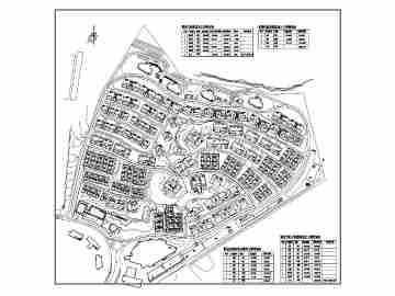 某地高端别墅小区规划设计总平面布置图