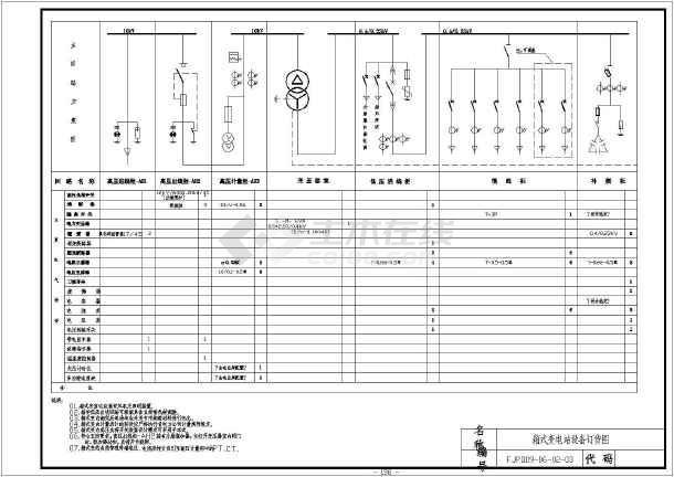 10kV图纸变电站电气设计图纸全套_cad图纸下6.0箱式采矿图片