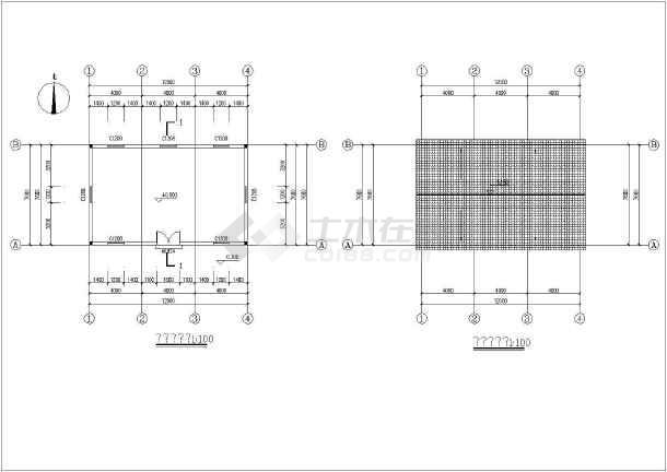 某地一套木结构建筑结构图-图1