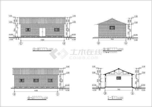 某地一套木结构建筑结构图-图2