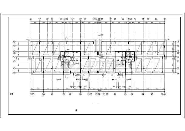 【湖南】某十二层简欧式板式住宅楼建筑施工图(南梯)图片1