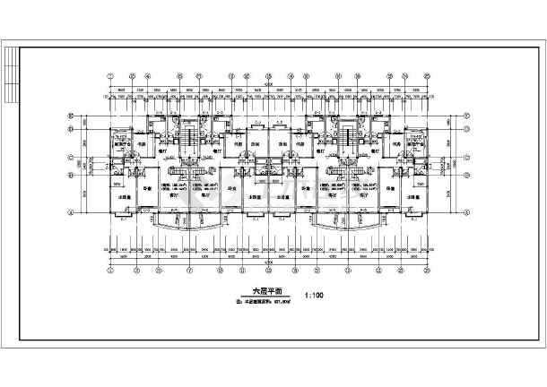 住宅平立剖面施工图(含建筑面积)-图2
