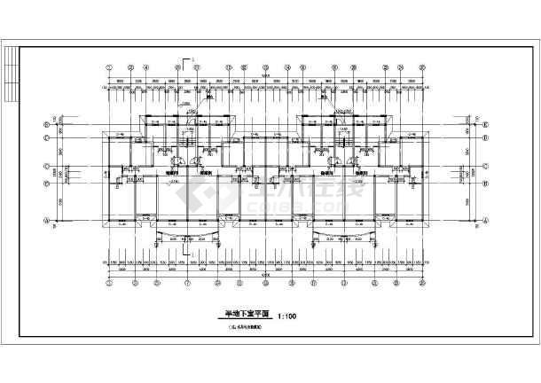住宅平立剖面施工图(含建筑面积)-图3