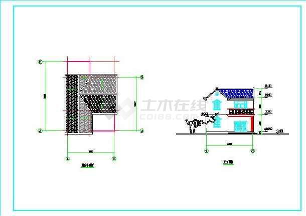 某地2套经济简单农村房屋建筑设计户型图_cad图纸下载