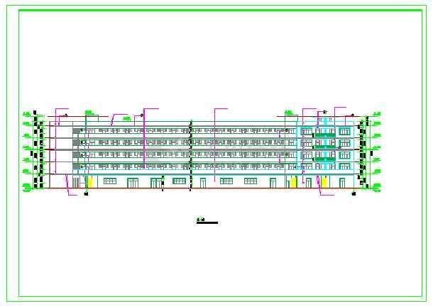 某大学学生宿舍楼建筑设计施工图纸