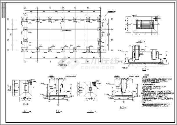 某地排架结构空压机房结构设计施工图