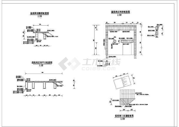 水利工程设计图 大坝堤防