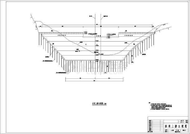 某电站初步设计结构布置图(含方案比较)