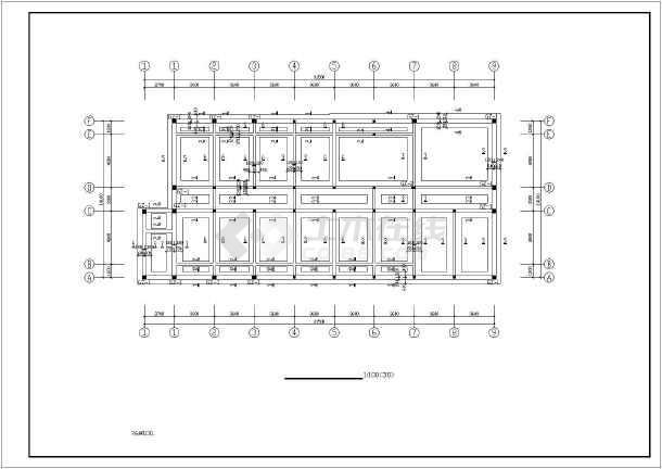 某三层看守所办公楼砖混结构设计施工图,包括结构设计说明,基础平面
