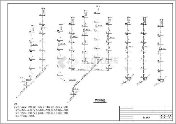 某六层多层商住楼建筑给排水施工图纸