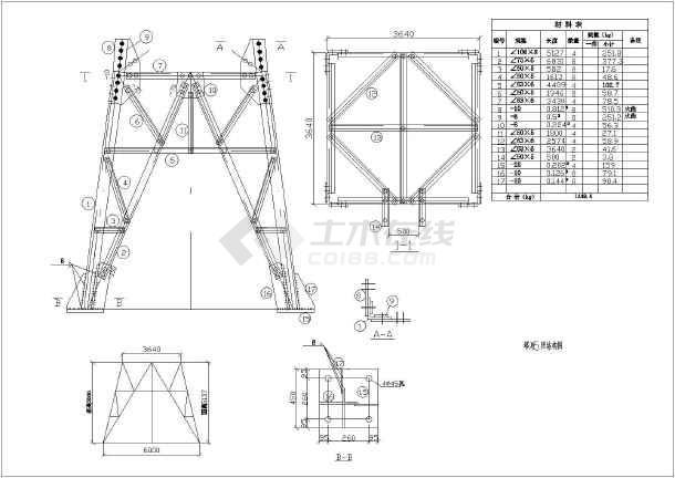 某地区25mv角钢角钢塔设计施工图纸伸缩机皮带图纸dwg.图片