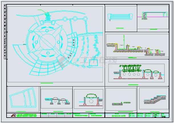 图纸 园林设计图 荆州市香格里拉小区景观设计说明全套图  简介:   本