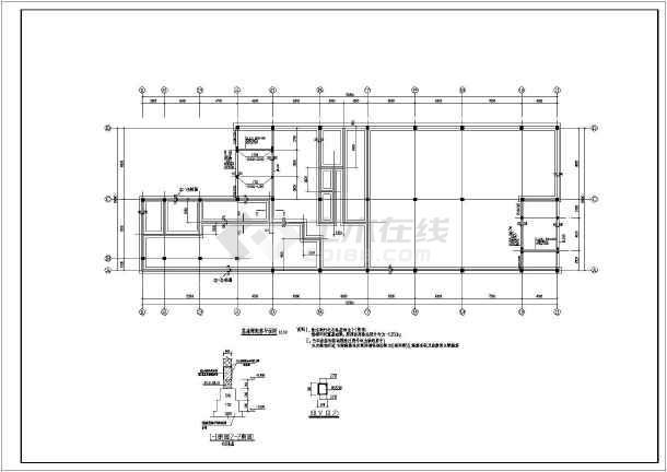 某地二层框架结构阶梯教室结构设计施工图