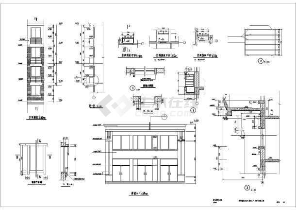 某地六层异形框架结构商住楼建筑设计施工图