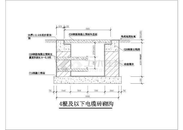 比较常用的各种类型砖砌电缆沟图集图片2