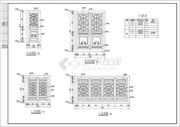 沁水县两层古建城楼建筑设计施工图_cad图纸下载-土木