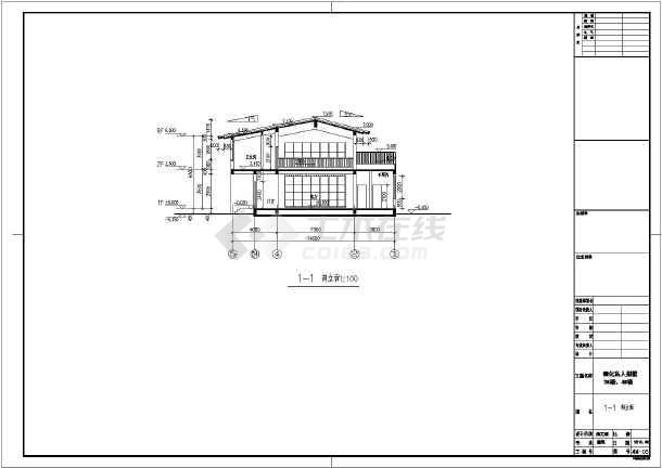 设计说明,建筑各层平面图,屋顶平面图,立面图,剖面图,门窗大样,楼梯大