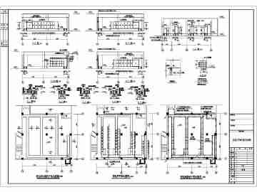 某超市高低压变配电平面图及系统图