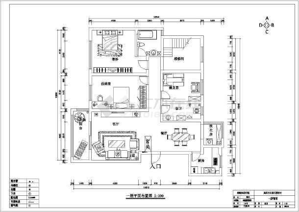 某拱桥楼家居吊杆装修毕业设计复式式承下图纸空间图纸图片
