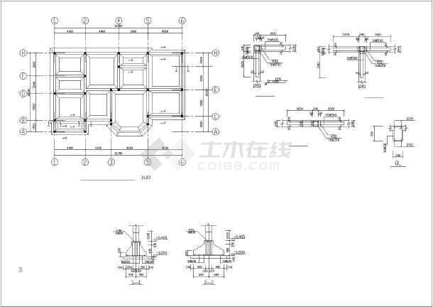 休闲风格的别墅方案设计建筑结构图(一)
