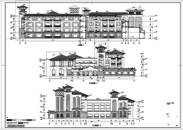 【江苏】某二十四班欧式幼儿园建筑施工图