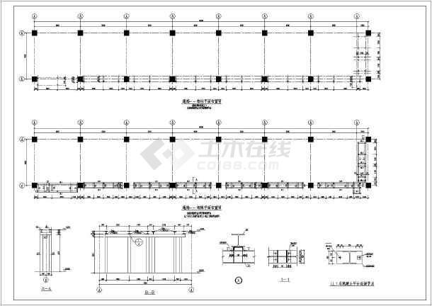 某图纸生产厂家钢结构制造汽车平台施工图_c简易十字绣结构图片