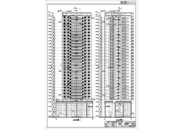 地三十一层商住楼建筑设计施工图_cad图纸下财图纸布短图片