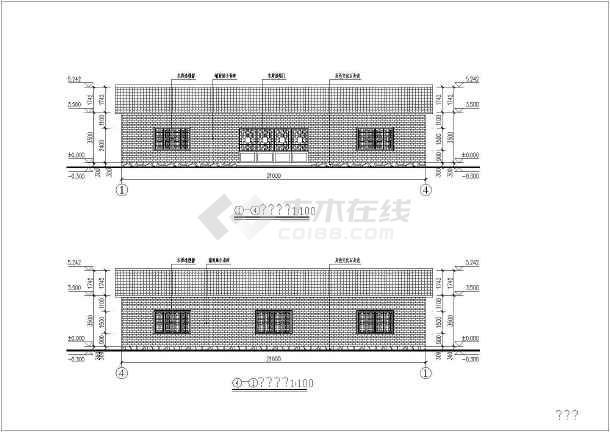 某地双跨纯木结构建筑结构图-图3