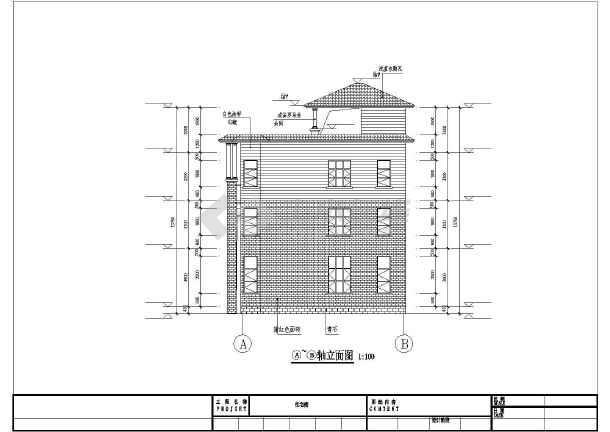 某地3层半独栋别墅建筑施工图