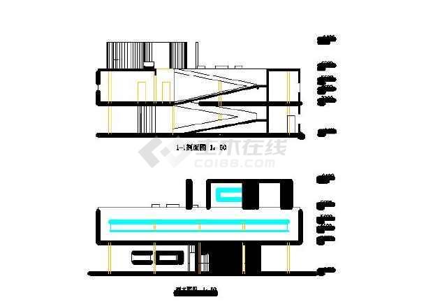 萨伏伊剖面平面,尺寸,立面具体别墅cad图(共12张)峰别墅亿半山图片