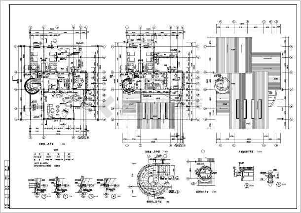 某地二层新潮美式自建别墅建筑设计图