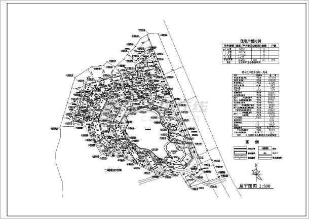 山地旅馆总平面图