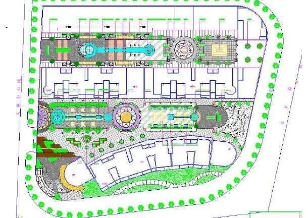 步行街景观设计平面