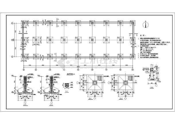 厂房结构设计  轻钢结构厂房  某地二层钢框架结构厂房结构施工图