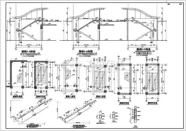 某住宅小区地下框架车库结构设计施工图河南园林设计公司图片