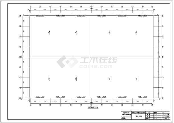 某60米跨钢结构烟叶仓库设计施工图图片2