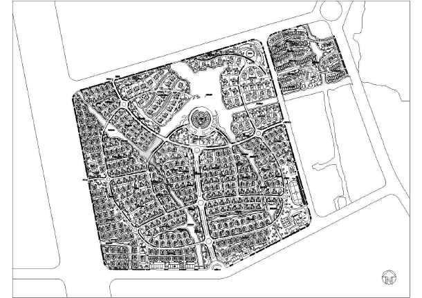 别墅区规划总图