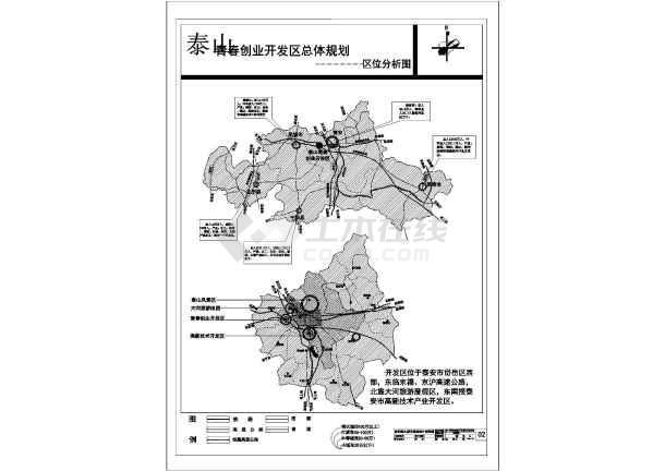图纸 园林设计图 园林绿化及施工 道路及高速公路绿化设计图 【泰山】